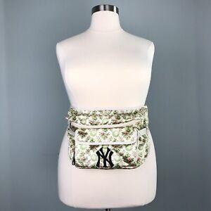 Gucci Ivory NY Yankees Belt Bag 536842 Silk Floral Satin Mini Backpack Logo