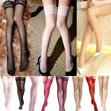 Damen Netz Feinstrumpf Spitze Strümpfe Thigh-Highs Stockings Strapsstrümpfe Sexy
