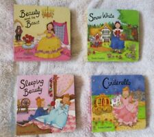 Pocket library of four classic princess story books Cinderella Snow White etc