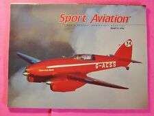 Sport Aviation Magazine March/1994.Buick V-8 Powered Rv-6A.Flying A Blimp