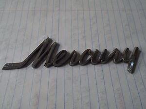 Mercury Script Hood Emblem Badge 70 71 Mercury Montego MX/Cyclone GT 1970 1971