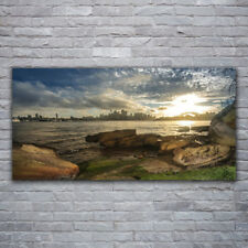 Acrylglasbilder Wandbilder aus Plexiglas® 120x60 Meer Steine Stadt Landschaft