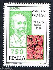 ITALIA UN FRANCOBOLLO EUROPA CEPT CAMILLO GOLGI NOBEL MEDICINA 1994 nuovo**