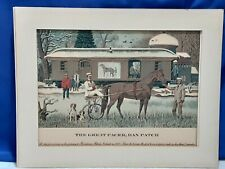 EARLY THE GREAT PACER,DAN PATCH RACE HORSE photo ready to frame 2 minute mile
