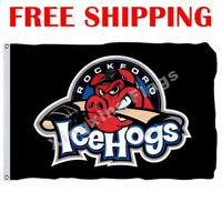 Rockford IceHogs Logo Flag AHL American Hockey League 2018 Banner 3X5 ft
