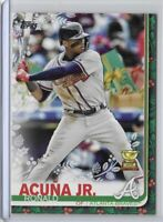 2019 Topps Holiday Ronald Acuna Jr Presents SSP Photo Variation Code 64