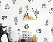 Cactus Wall Decals,Cacti Wall Stickers, Nursery Decals, Vinyl Wall Decals ga127