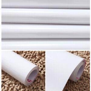 Hochglanz PVC Möbelfolie Klebefolie Küchenfolie Schrankfolie Selbstklebend Weiß
