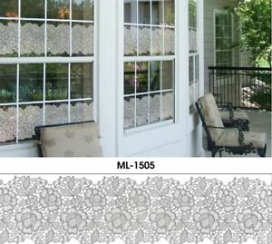 Statisch haftende Fenster Folie Bistro Gardine Scheibengardine 15 cm Breite