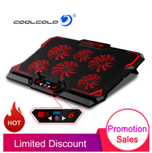 Cooling Pad Gamming Laptop 6 Strong Cooling Fans With Screen Adjustable Dual USB