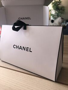 """Chanel Gift Box/Bag With Tissue Paper And Origami Outer Gift Box 9"""" X 5.5"""""""