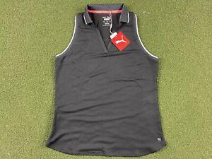 PUMA Sprinter Sleeveless Golf Polo Black WMNS SZ S ( 599252 01 )