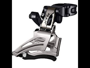 Shimano XTR FD-M9025-H double front derailleur conventional swing pull silver