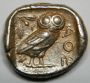 Attica Athens AR tetradrachm circa 454-404 BC gXF [17.22 grams]