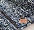 Denim Chindi Rag Rug Blue Navy 60x90cm 2x3' Handmade Recycled Eco Friendly