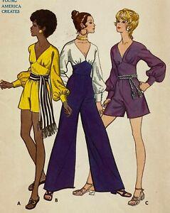 1970s Butterick Vintage Sewing Pattern 5719 Jumpsuit Romper Bust 38