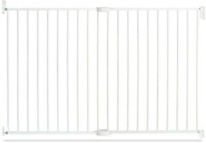 Child Safety Gate 36 in. Extending XL Metal White with Tilting Hinge Mechanism