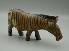 "Zebra Statue Set Of 3 Wood Carved Mane Hair Detail 20""16""12/"" by Zenda Imports"