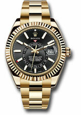 Rolex Sky-Dweller 18kt Yellow Gold Black Index Dial Annual Calendar 42mm 326938