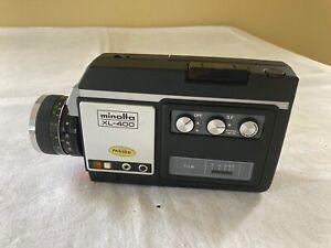 VTG Minolta XL-400 Super 8 Movie Camera w/ Macro Lens & Time Lapse - Works Great