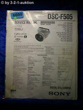 Sony Service Manual DSC F505 Level 2 Digital Still Camera (#6600)