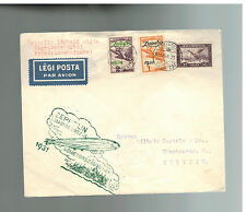 1931 Budapest Hungary Graf Zeppelin Cover LZ 127 to Stettin Germany