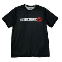Siege Athletics Tee T-Shirt Mens Size M Medium Black Short Sleeve DOMINATE