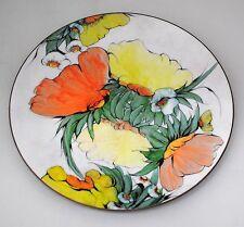 Lilyan Bachrach Enamel on Copper Floral Plate