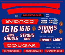 #16 Stroh'S Cougar Group 5 1/24th - 1/25th Scale Decals
