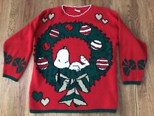 Vintage Snoopy Christmas Sweater not ugly Size XL