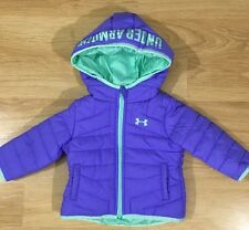NEW!! Under Armour Coat Baby Toddler Size 3/6 Months Violet Storm
