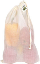 ECOBAGS®~Lightweight Natural Cotton Gauze Produce/Grain Bag-Medium Size