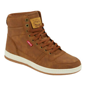 Levi's Mens Stanton Waxed Fashion Synthetic Leather Lace-up Hightop Size 13
