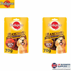 Pedigree Ranchos Original Tender Dog Treats with Beef or Chicken 70g