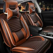 Deluxe Pu Leather Car Seat Cover 5 Seats Suv Front Amp Rear Cushions Withpillows Set