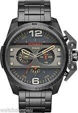 Nouveau DIESEL DZ4363 pour homme ironside gunmetal montre chronographe - 2 an de garantie