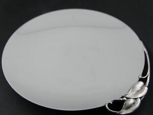 Sterling REED & BARTON Dish ~ Mid Century Modern w/ applied leaves X523