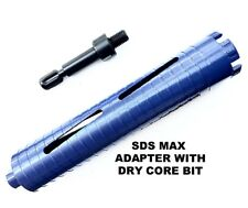 Dry core bit with SDS max adapter for HVAC, Plumbing, Electrical Contracotrs