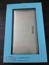 Kate Spade Gold Zip Around Wallet Bag Clutch Wristlet, Fits Most Phones NEW, C1