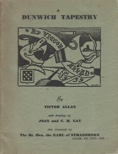 A Dunwich Tapestry - Paperback Victor Allan 1939 East Anglian Magazine