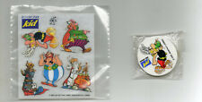ASTERIX - Lot objets publicitaires  offert par KID ( danone )-Gomme -Transferts