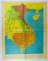 1966 Early VIETNAM WAR COLOR MAP Detroit News Special Edition Report May 9