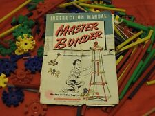 1970s MASTER BUILDER plastic architecture cogs wheels toys construction Legos