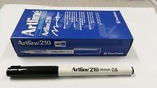 Artline 210 BLACK 0.6mm Medium Fine Line Pens