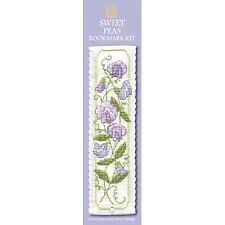 Sweet Peas Cross Stitch Bookmark Kit From Textile Heritage