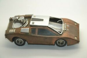 Vintage Lamborghini Countach Table Ashtray and Lighter with Music Box
