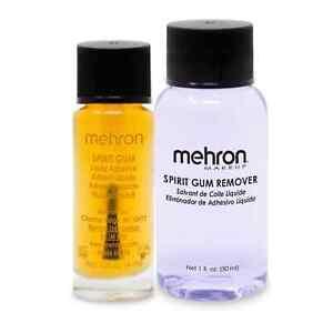 MEHRON SPIRIT GUM ADHESIVE AND REMOVER SET SPECIAL EFFECT GLUE ADHESIVE MAKE UP