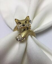 Kate Spade New York So Foxy Fox 12 K Gold Plated Ring Size 8 w/ KS Dust Bag New