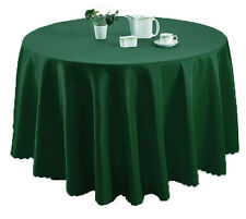 Plain Solid Long Circular Dining Kitchen Tablecloth Tableware Linen 170cm Round
