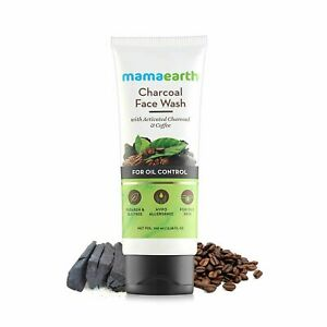 Mamaearth Charcoal Natural Face Wash For Oil Control & Pollution Defense 100 ml